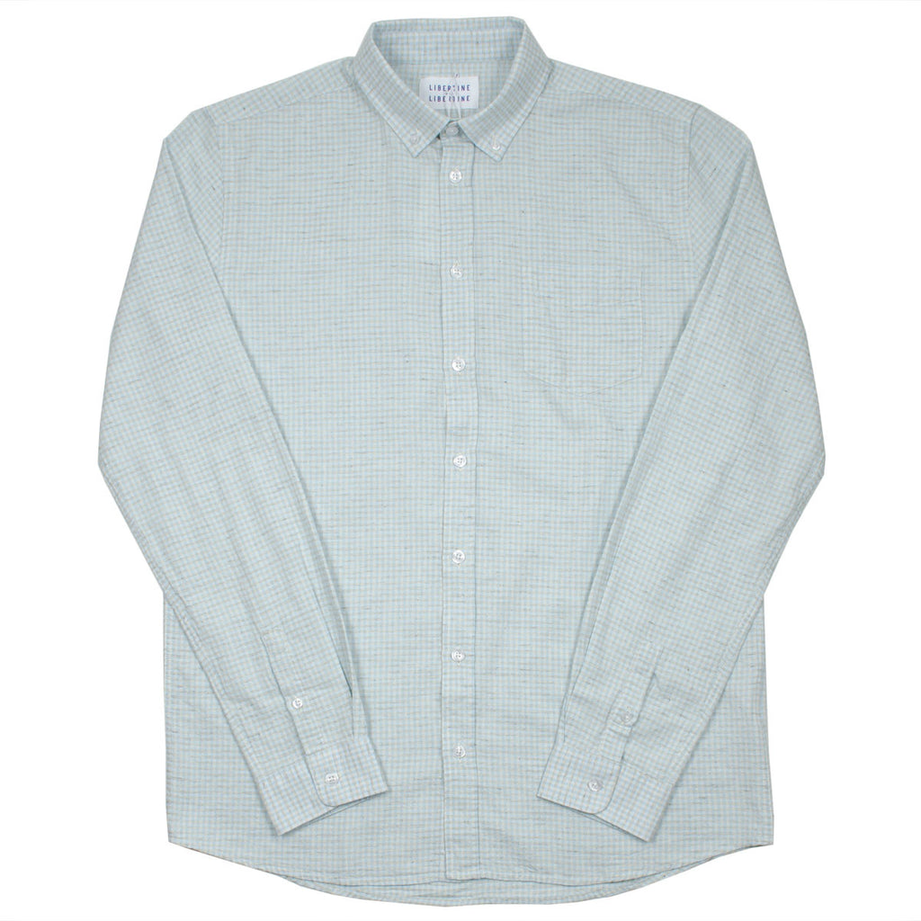 Libertine-Libertine - Hunter Shirt Foam - Light Blue Check