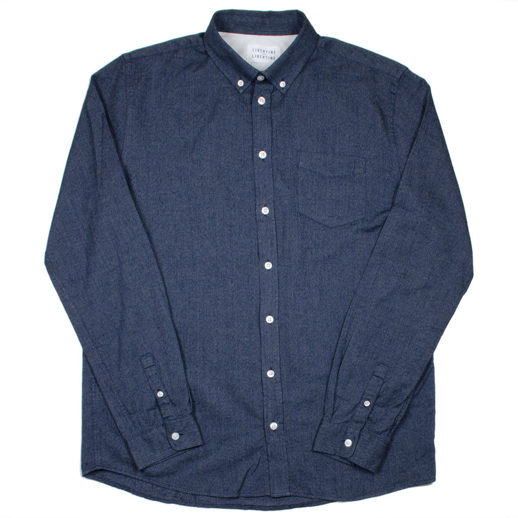 Libertine-Libertine - Hunter Shirt Leave - Dark Navy Melange