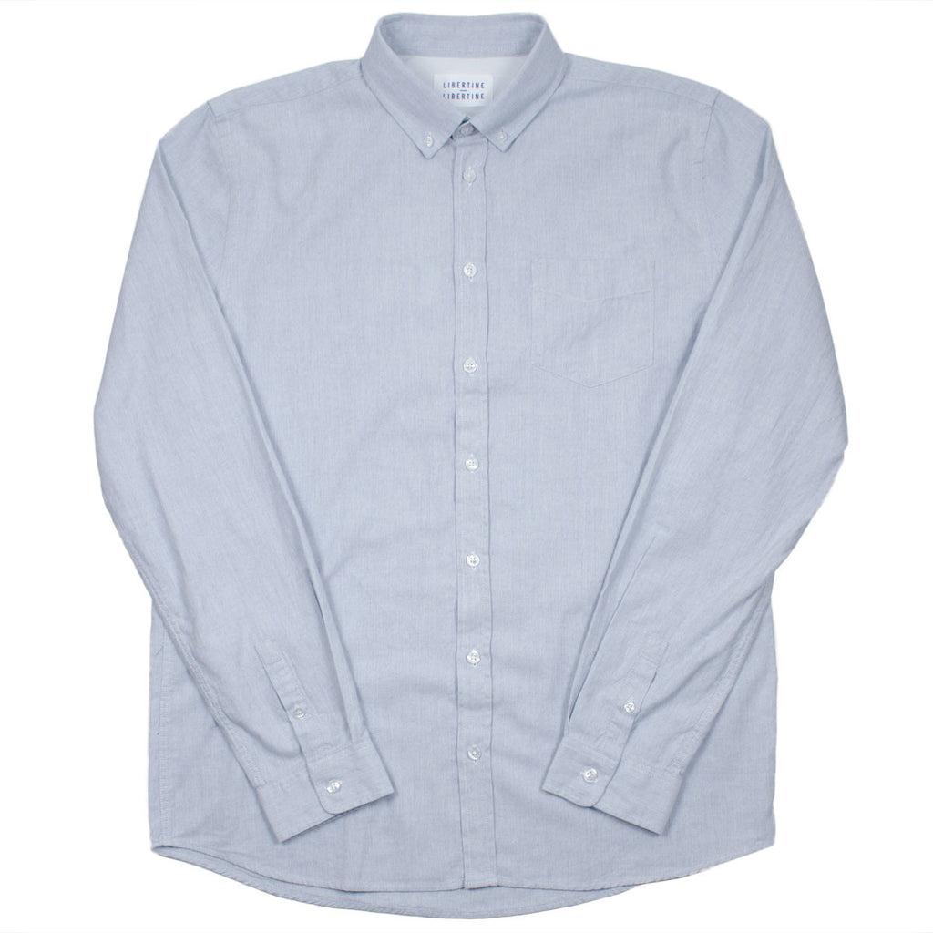 Libertine-Libertine - Hunter Shirt Leave - Light Blue Melange