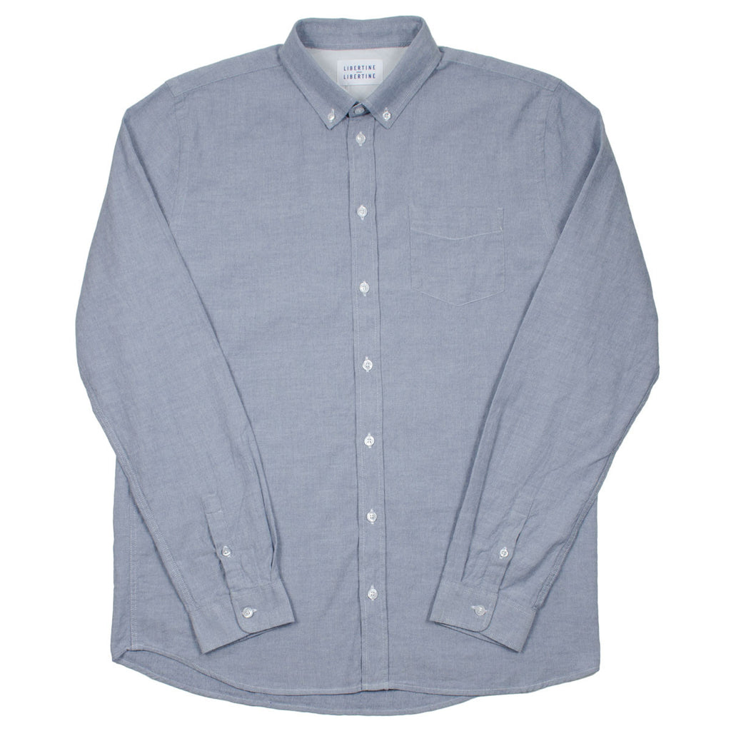 Libertine-Libertine - Hunter Shirt Leave - Mid. Blue Melange