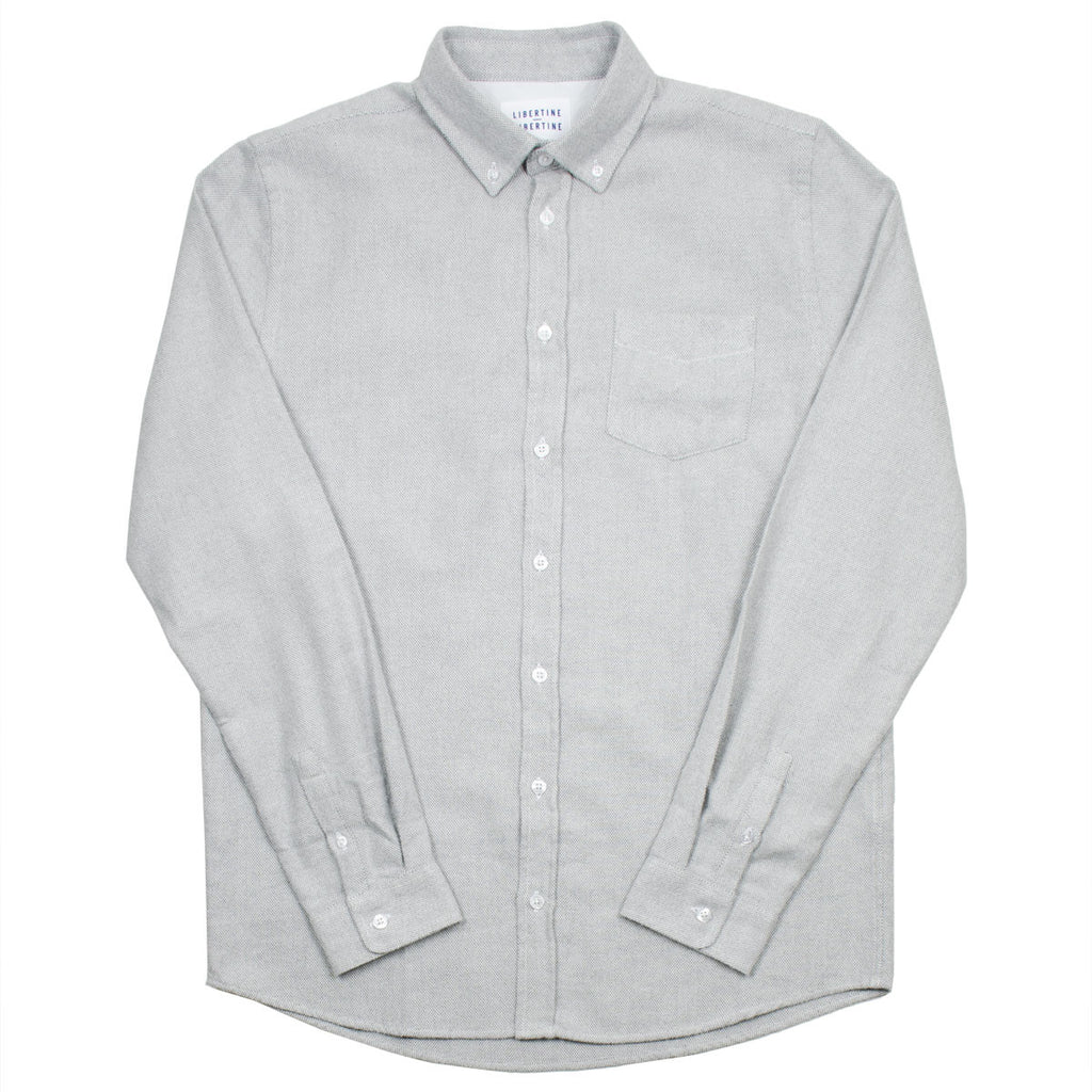 Libertine-Libertine - Hunter Shirt Mountain - Light Grey