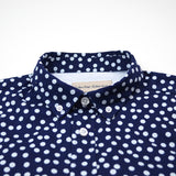 Libertine-Libertine - Hunter Shirt Sunset - Dark Navy with White Dots