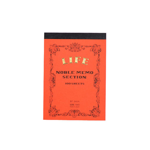 Life Stationery - Memo Book N40 (B7) - Red