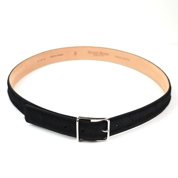 Maison Boinet - Classic Hair Calf Leather Belt - Black