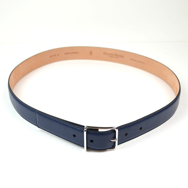 Maison Boinet - Classic Nappa Leather Belt - Navy