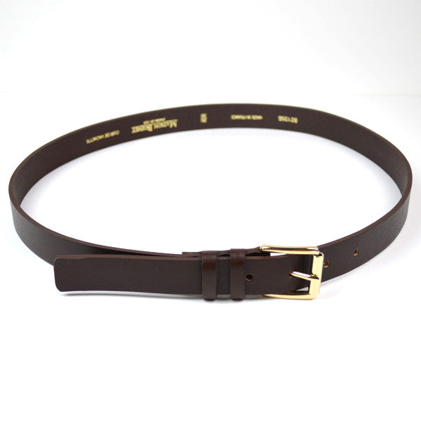 Maison Boinet - Slim Calf Leather Belt - Brown