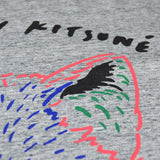 Maison Kitsuné - 3D Fox Tee-Shirt - Light Grey Mélangé