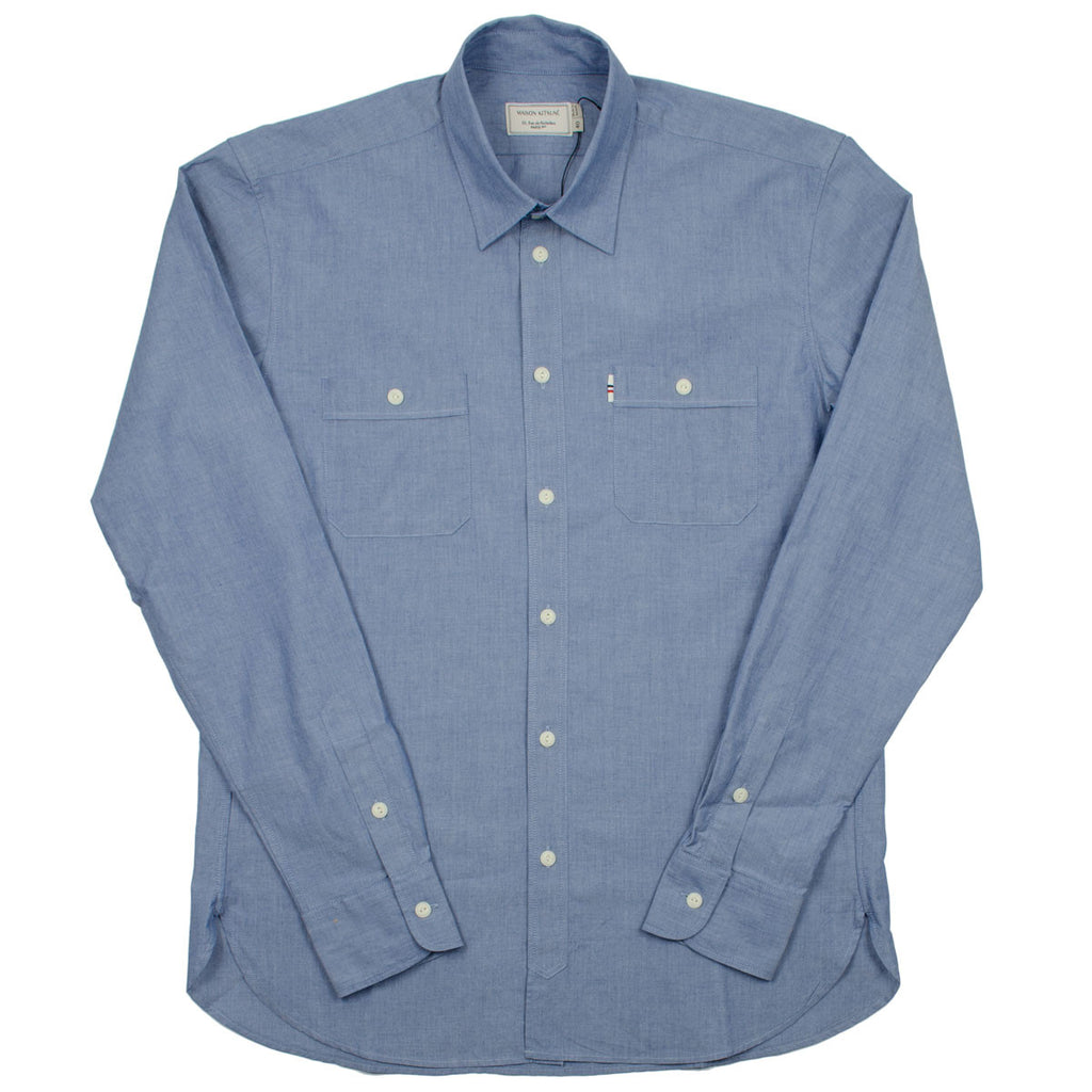 Maison Kitsuné - Chambray Shirt - Blue