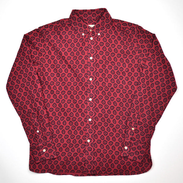 Maison Kitsuné - Classic BD Shirt with Pocket Flying Spark - Burgundy