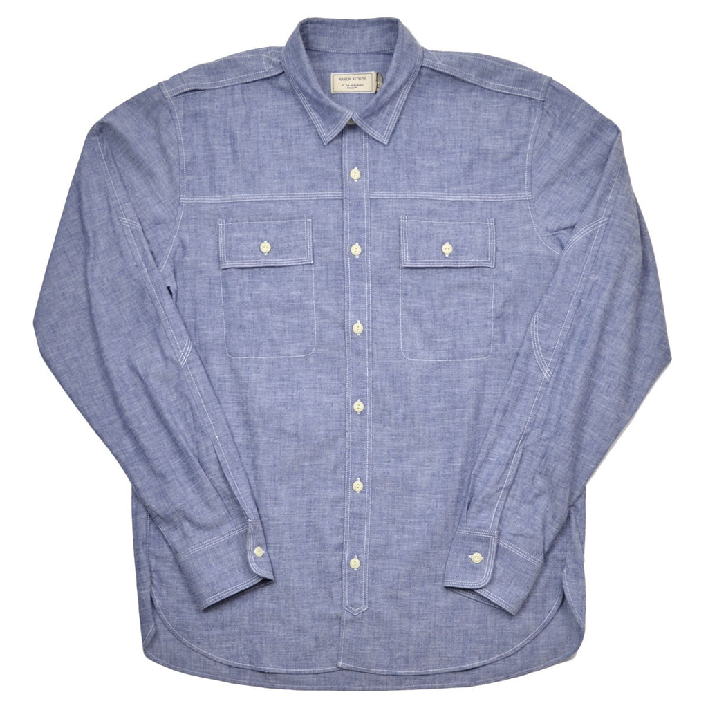 Maison Kitsuné - Cotton Flannel Shirt - Navy