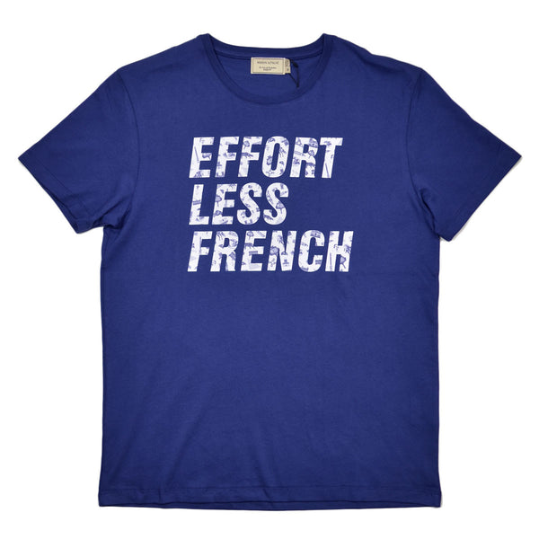 Maison Kitsuné - Effortless French Printed T-shirt- Blue