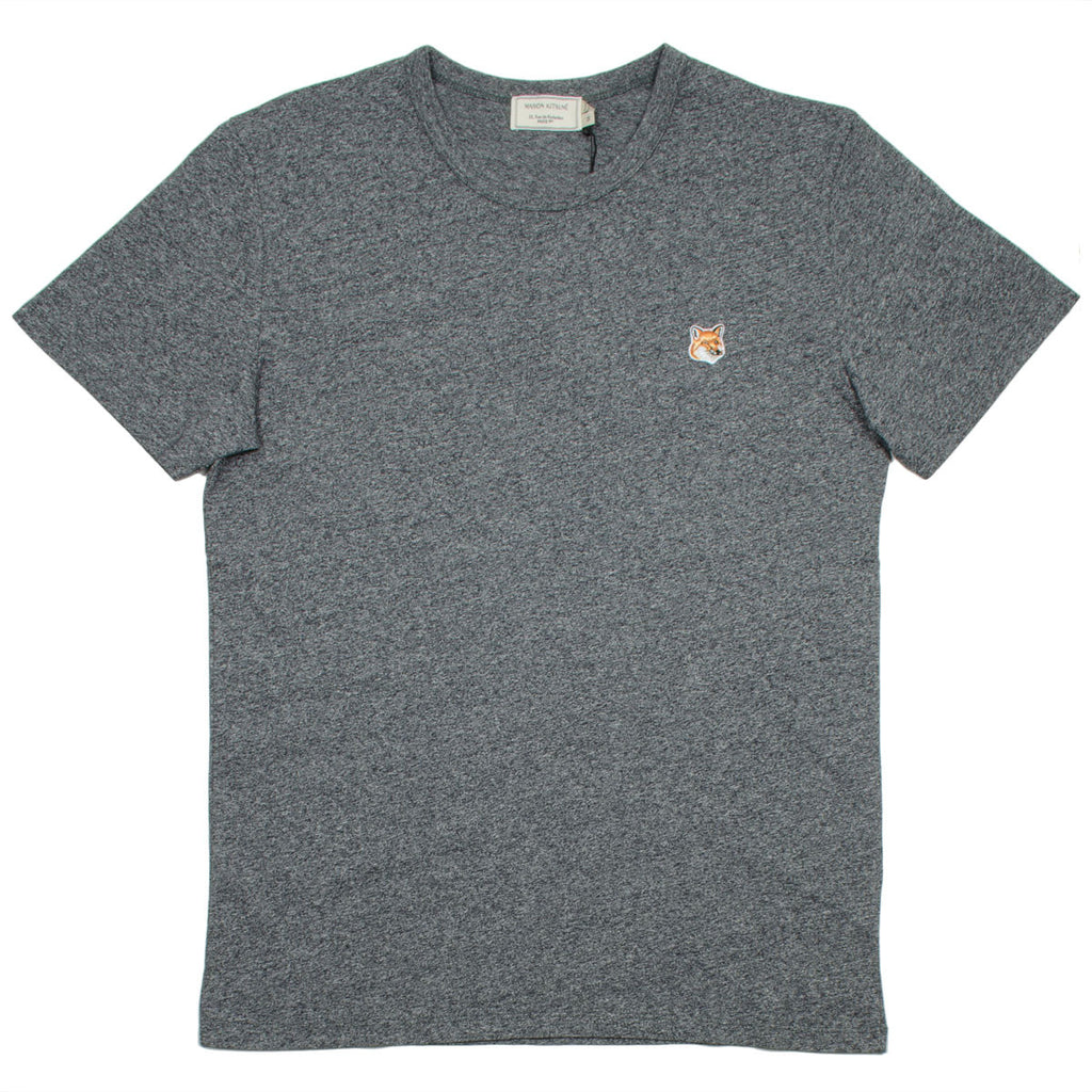 Maison Kitsuné - Fox Head Patch T-shirt - Black Melange