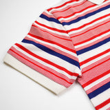 Maison Kitsuné - Irregular Stripes Polo - Red / Blue / White
