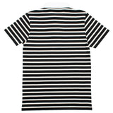 Maison Kitsuné - Marin Striped Polo Shirt - Black / Ecru