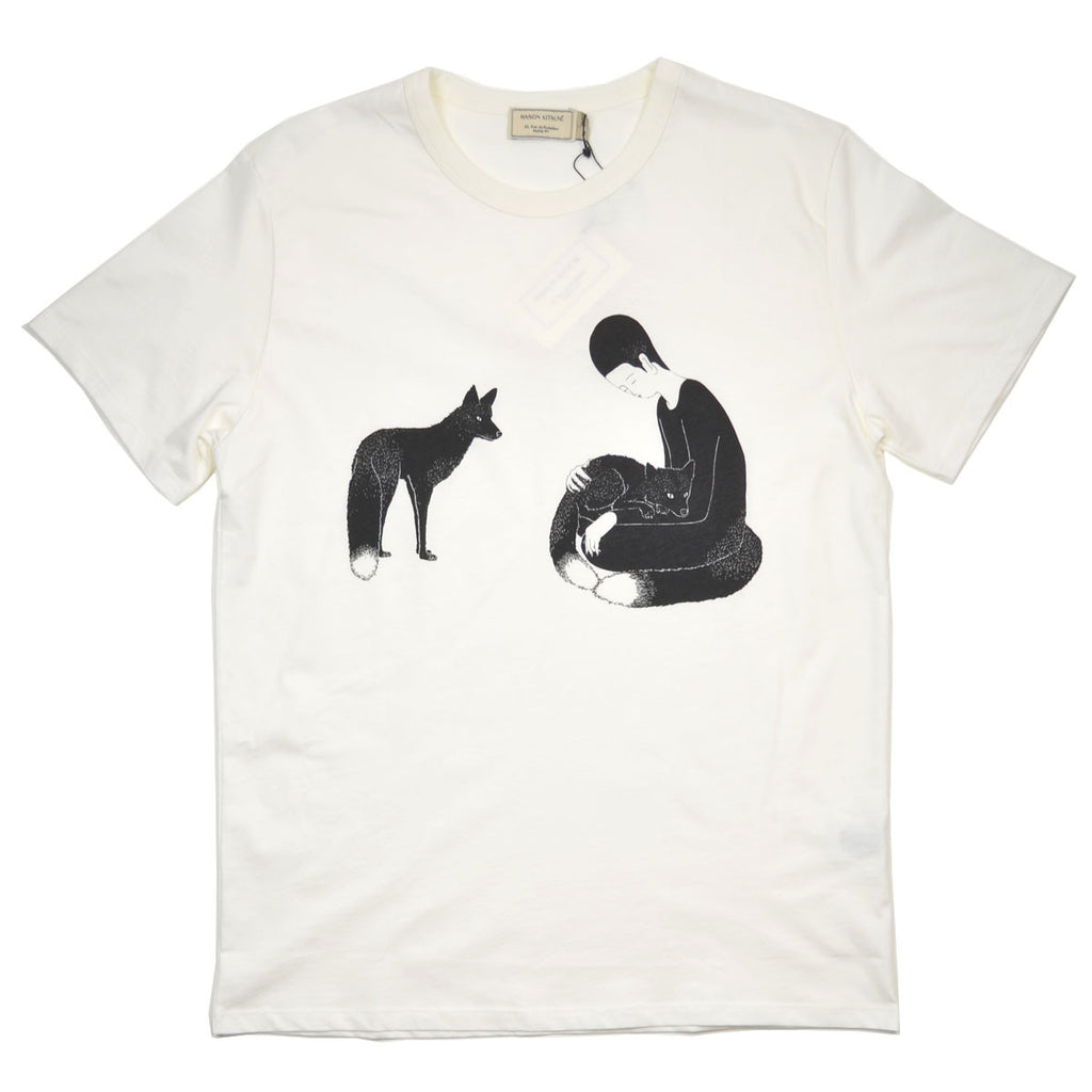 Maison Kitsuné - Moonassi Pray T-shirt - White