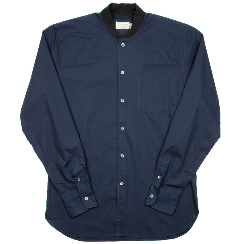 Maison Kitsuné - Poplin Rib James Shirt - Dark Navy