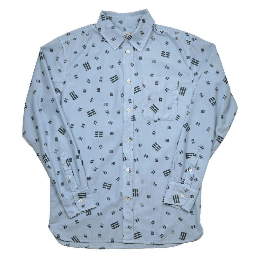 Maison Kitsuné - Trigram Print Shirt - Light Blue