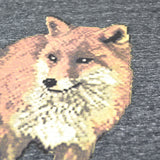 Maison Kitsune - Walking Fox Tee-Shirt - Dark Grey Melange