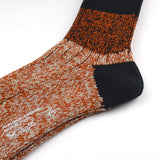 Marcomonde - Big Stripes Melange Socks - Orange / Black