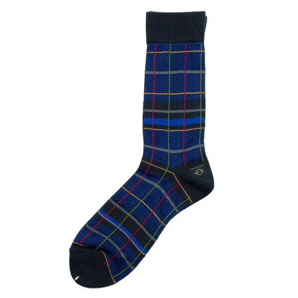 Marcomonde - Checks Peru Socks - Navy / Blue