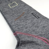 Marcomonde - Geometric Shapes Socks - Grey