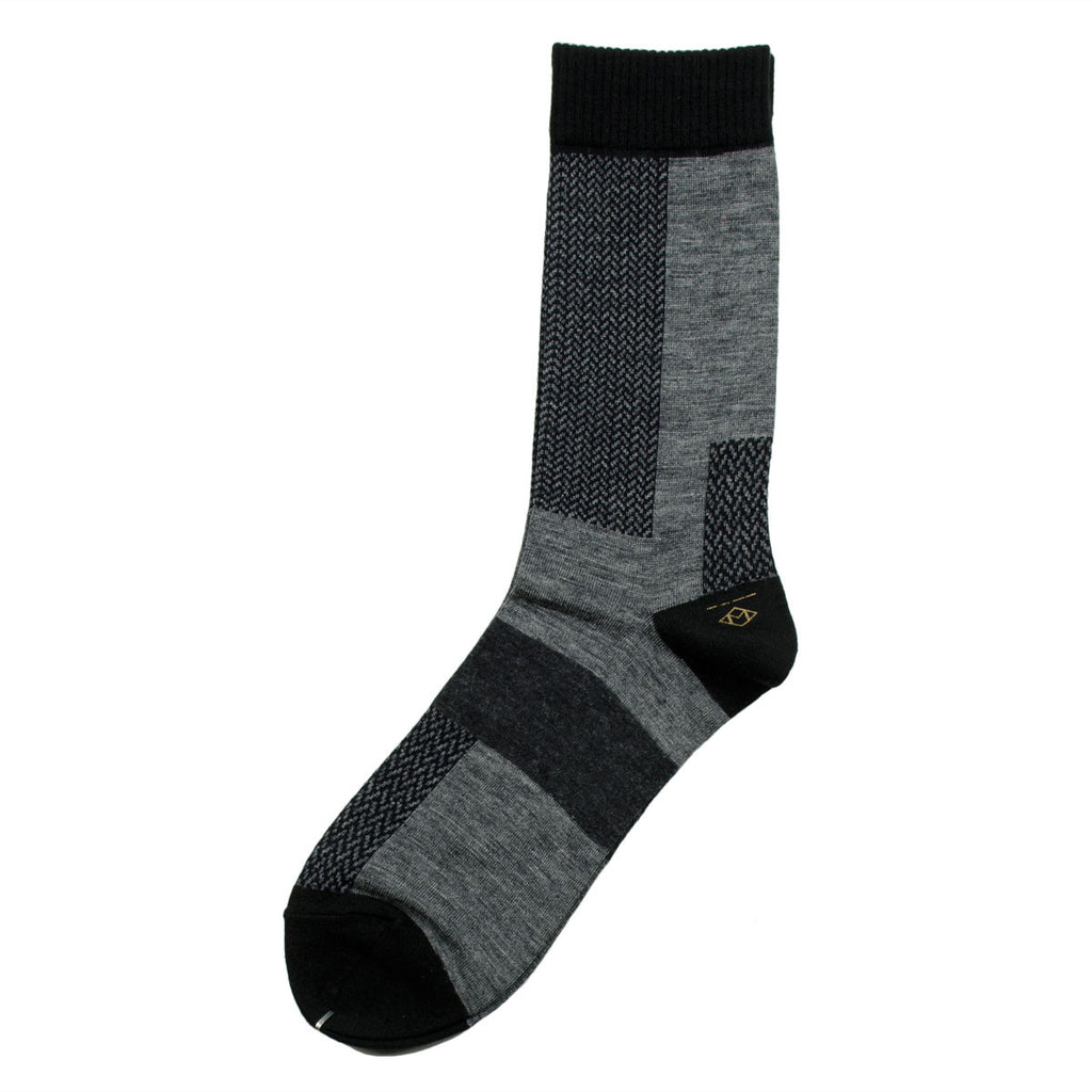 Marcomonde - Microchecks Peru Socks - Grey