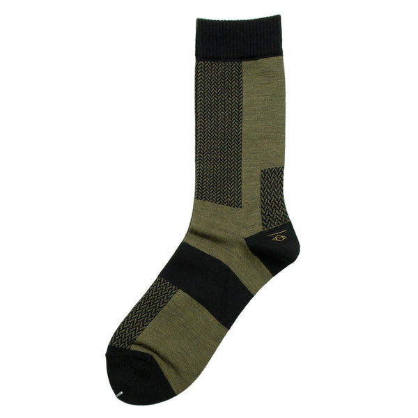 Marcomonde - Microchecks Peru Socks - Olive
