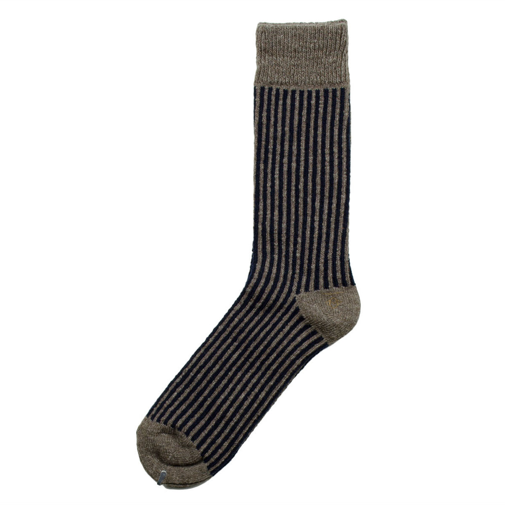 Marcomonde - Stripes Peru Socks - Navy / Beige