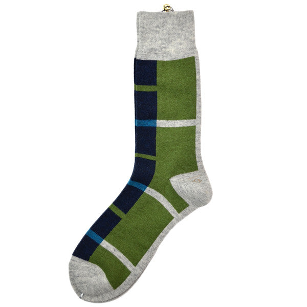 Marcomonde - Geometric Socks Wool - Grey