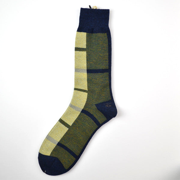Marcomonde - Geometric Socks Wool - Navy