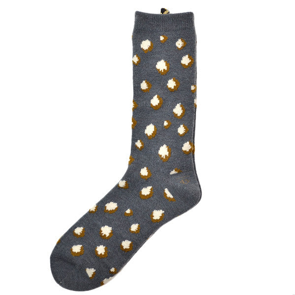Marcomonde - Leopard Socks Nylon Blend - Grey