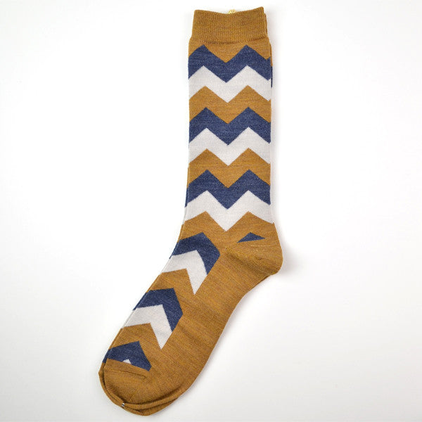 Marcomonde - Striped Socks Wool - Mustard