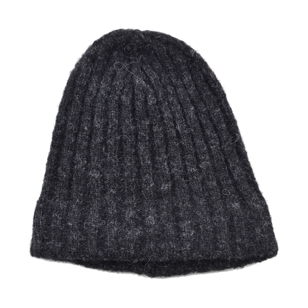Norse Projects - Alpaca Rib Top Beanie - Charcoal Melange
