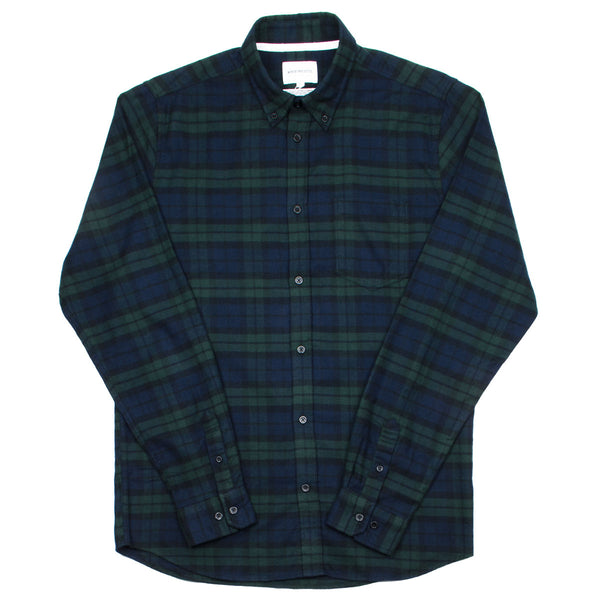 Norse Projects - Anton Brushed Flannel Check - Black Watch Check