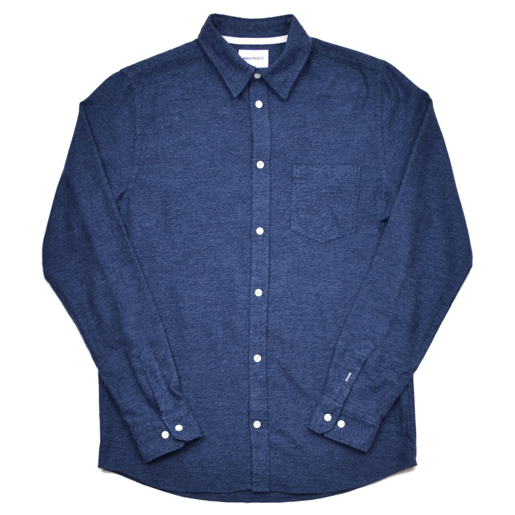 Norse Projects - Anton Brushed Shirt - Dark Navy