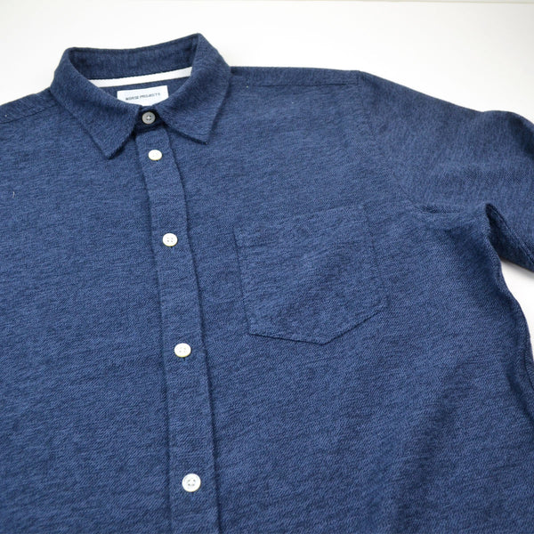 231dc4fad28 Norse Projects - Anton Brushed Shirt - Dark Navy – BEAUBIEN