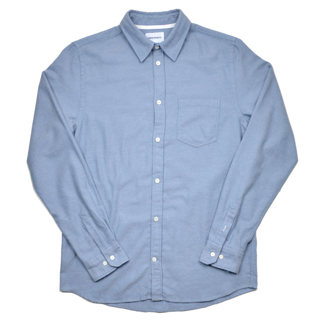 80c02dbc7c9 Norse Projects - Anton Brushed Shirt - Fog Blue – BEAUBIEN