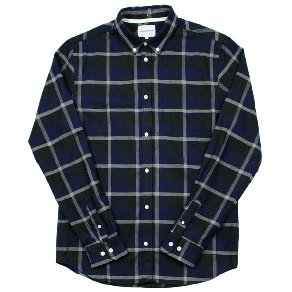 Norse Projects - Anton Check Shirt - Navy / Charcoal