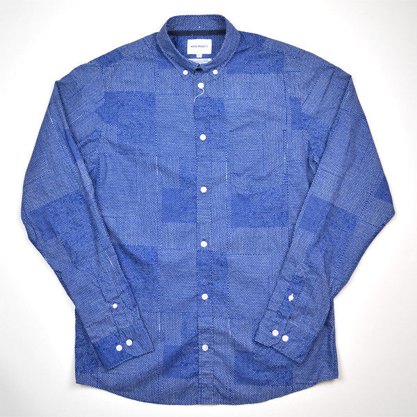 Norse Projects - Anton Dot Collage Shirt - Bristol Blue