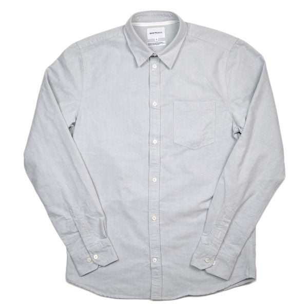 Norse Projects - Anton Heavy Brushed Oxford Shirt - Light Grey