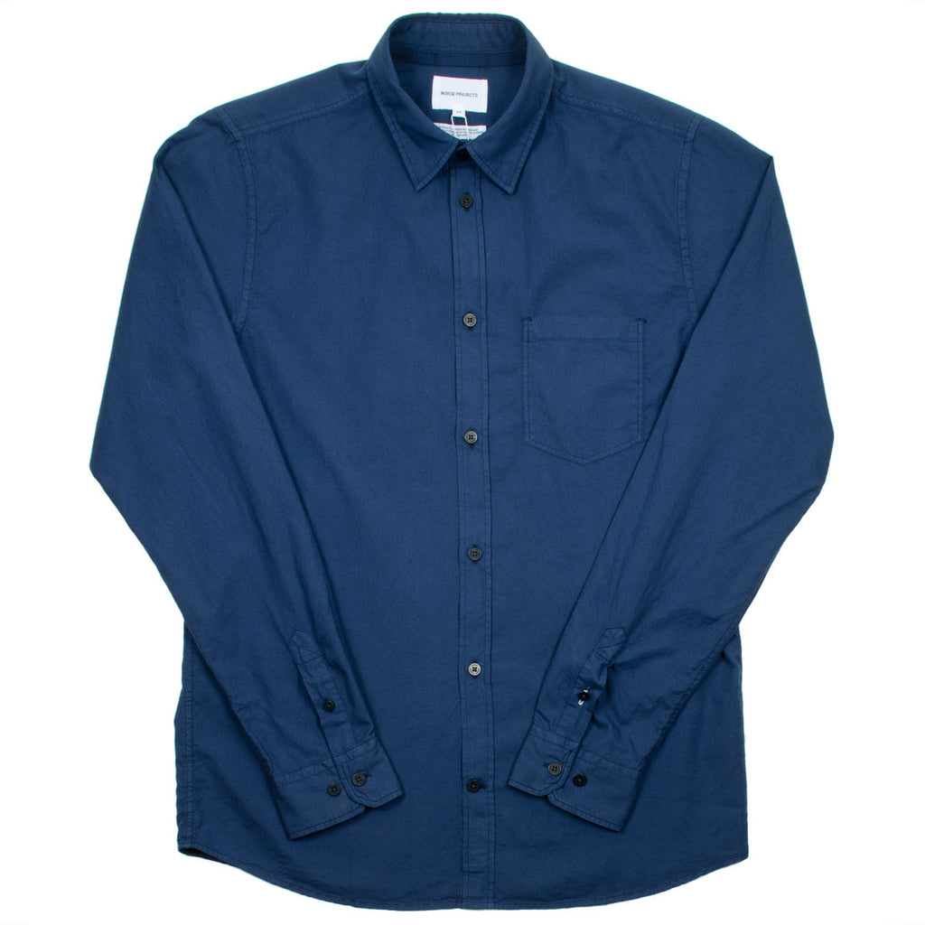 Norse Projects - Anton Light Oxford Overdyed Shirt - Navy