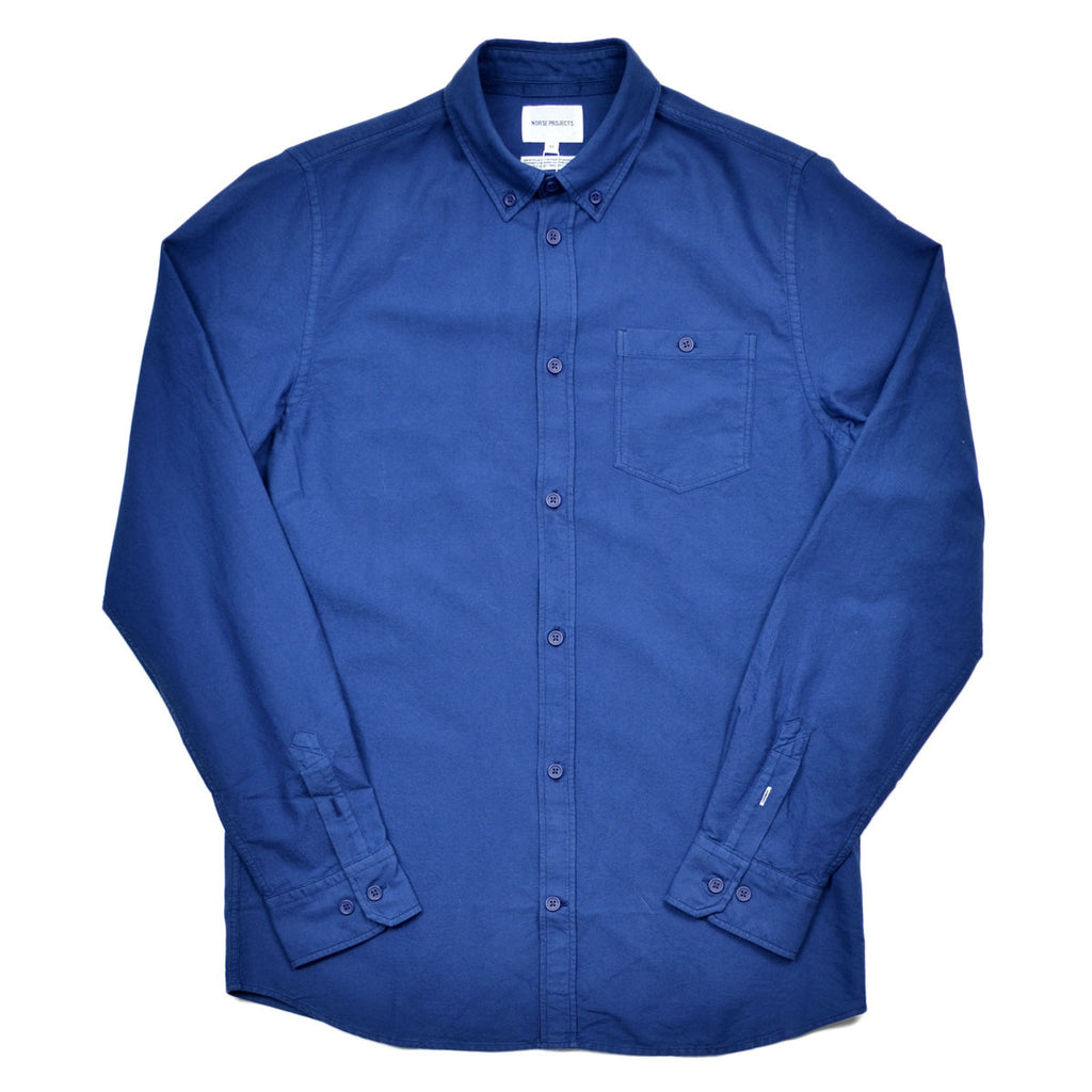 Norse Projects - Anton Oxford Overdyed Shirt - Indigo