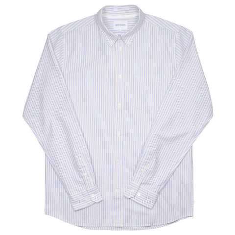 Norse Projects - Anton Oxford Shirt - Clouded Blue Stripe