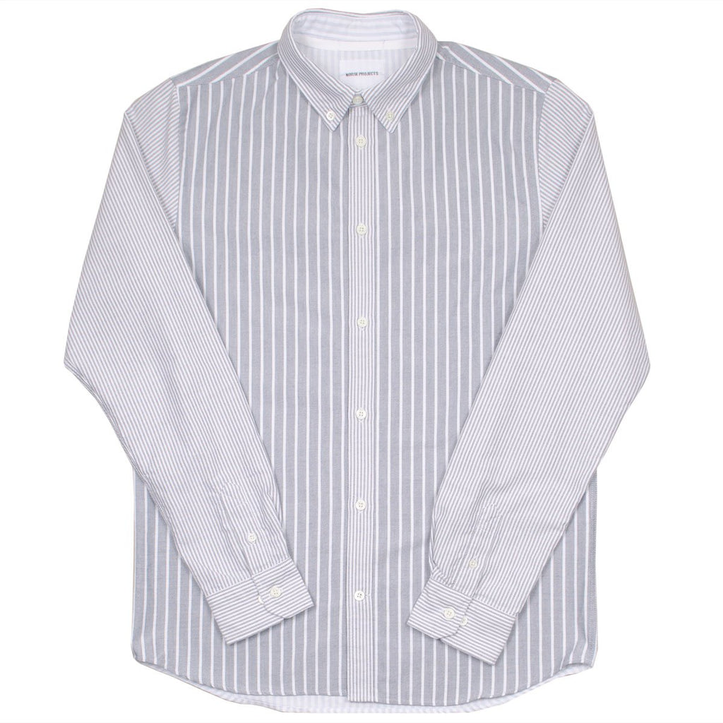 Norse Projects - Anton Oxford Shirt - Dark Navy Multi Stripes