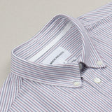 Norse Projects - Anton Oxford Shirt - Eggplant / Dark Navy Stripe