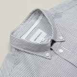 Norse Projects - Anton Oxford Shirt - Magnet Grey Stripe