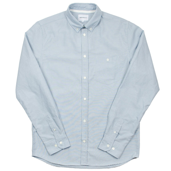 Norse Projects - Anton Oxford Shirt - Marginal Blue Stripes