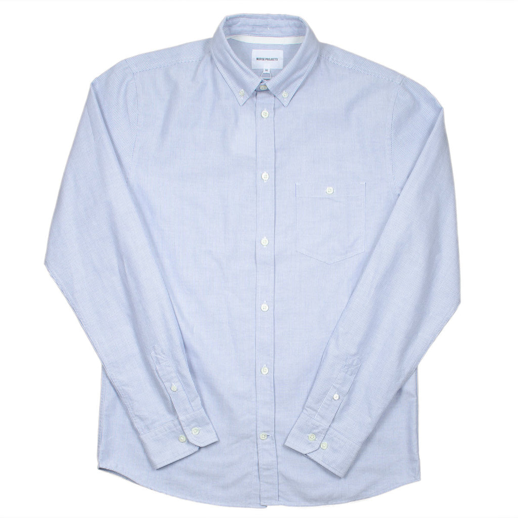 Norse Projects - Anton Oxford Shirt - Navy Stripes