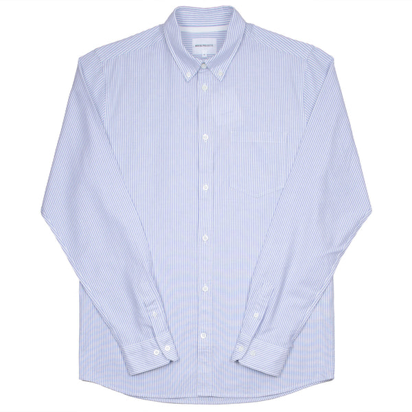 Norse Projects - Anton Oxford Shirt - Pale Blue Stripe