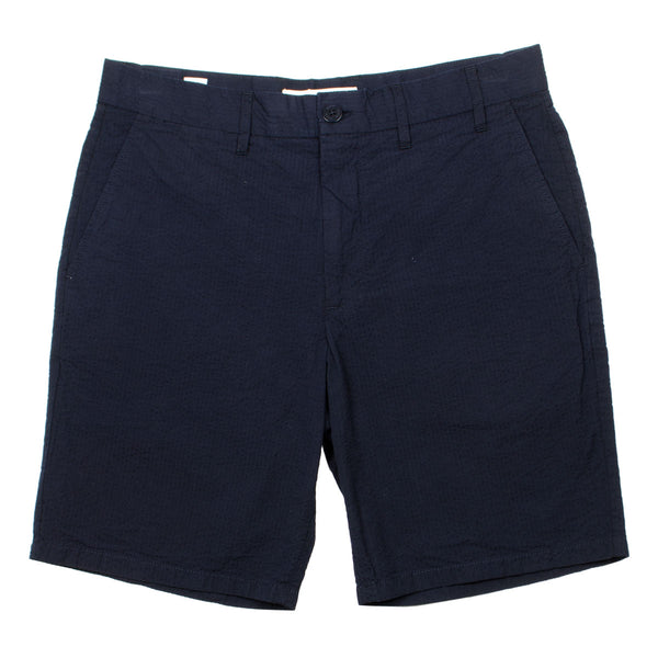 Norse Projects - Aros Seersucker Shorts - Dark Navy